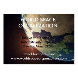 earth1, ORGANIZACIÓN del ESPACIO del MUNDO, Tarjetas De Visita Grandes