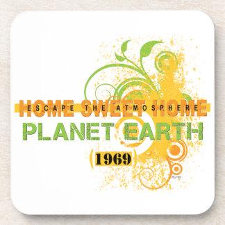 Earth 1969 beverage coaster