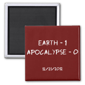 Earth 1 - Apocalypse 0 2 Inch Square Magnet