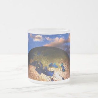 earth-216834 FANTASY SCIENCEFICTION PLANETS ALIEN 10 Oz Frosted Glass Coffee Mug