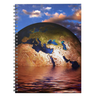 earth-216834 FANTASY SCIENCEFICTION PLANETS ALIEN Spiral Notebook