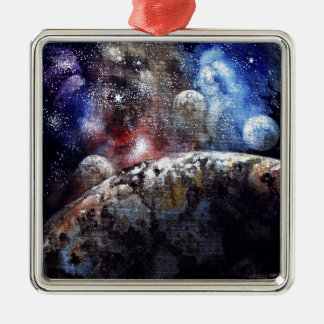 Earth-2 Metal Ornament