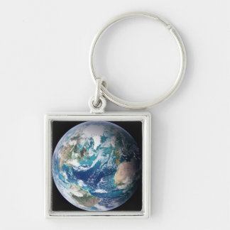 Earth 2 Silver-Colored square keychain