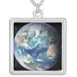 Earth 2 square pendant necklace