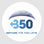 Earth 350 classic round sticker