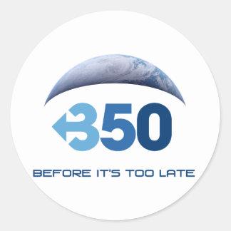 Earth 350 classic round sticker