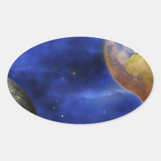 earth-366722  earth global warming climate emissio oval sticker
