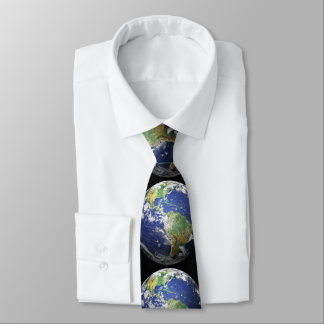 Earth - 3D Effect Neck Tie