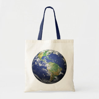 Earth - 3D Effect Tote Bag