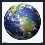 """Earth - 3D Effect Wall Decal<br><div class=""""desc"""">This spectacular shot is a composite image put together through the cooperation of four government agencies, NASA, NASA&#39;s Goddard Space Flight Center, the National Oceanic and Atmospheric Administration, and the United States Geological Survey. We here at Space HQ then took the image and enhanced it&#39;s 3D effect. Welcome to SPACE...</div>"""