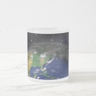 earth-422754 DIGITAL REALISM earth globe space uni Frosted Glass Coffee Mug