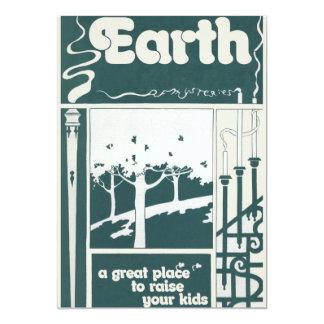 EARTH 5X7 PAPER INVITATION CARD