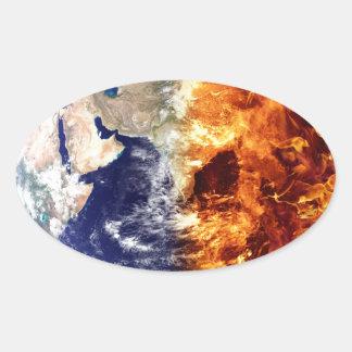 earth-683436 APOCALYPSE FUTURISTIC SCI-FI EARTH DE Oval Sticker