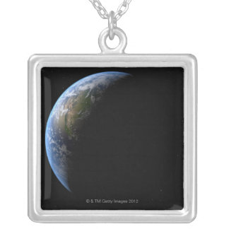 Earth 6 silver plated necklace