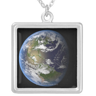 Earth 7 silver plated necklace