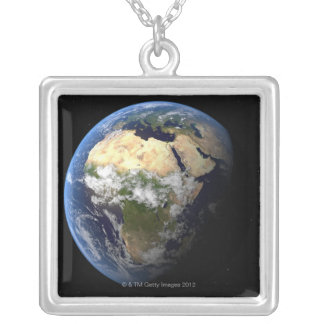 Earth 8 silver plated necklace