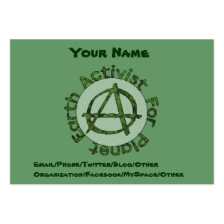 Earth Activist Large Business Card