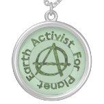 Earth Activist Round Pendant Necklace