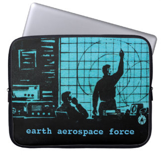 Earth Aerospace Force: Control room Laptop Sleeve