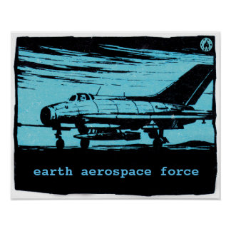 Earth Aerospace Force: Jet fighter Poster