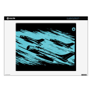 "Earth Aerospace Force: Jet Fighters Decal For 14"" Laptop"