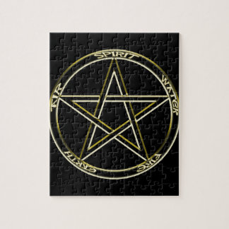 Earth, Air and Fire Pentagram Jigsaw Puzzle