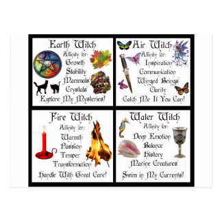 Earth Air Water Fire Postcards