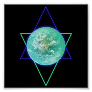 Earth Alignment Sigil Poster