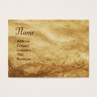 EARTH / ALLEGORY WITH WILD ANIMALS BUSINESS CARD