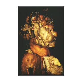 EARTH / ALLEGORY WITH WILD ANIMALS CANVAS PRINT