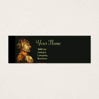 EARTH / ALLEGORY WITH WILD ANIMALS MONOGRAM MINI BUSINESS CARD