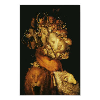 EARTH / ALLEGORY WITH WILD ANIMALS POSTER