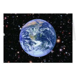 Earth Amidst The Furthest Galaxies Card
