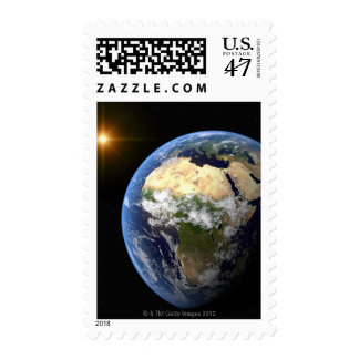 Earth and a Bright Star 2 Postage