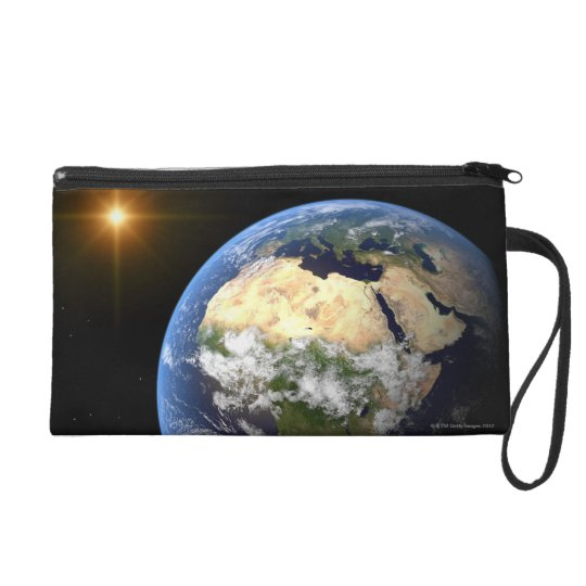 Earth and a Bright Star 2 Wristlet Purse