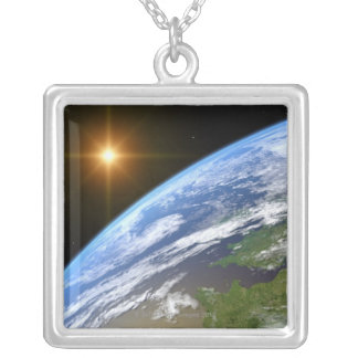 Earth and a Bright Star 3 Silver Plated Necklace
