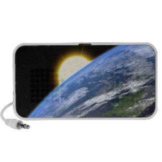 Earth and a Bright Star Travelling Speakers
