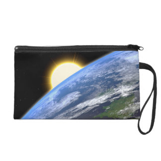 Earth and a Bright Star Wristlet Purse