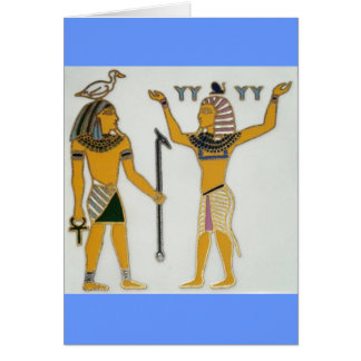 Earth and Air Geb and Shu Egyption Card