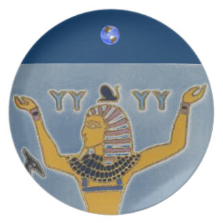 Earth and Air Geb and Shu Egyption Plate