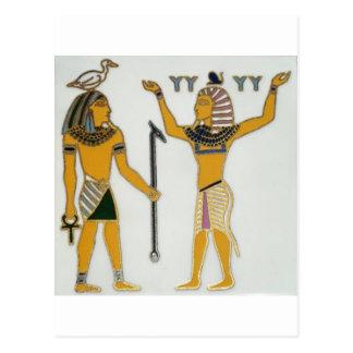 Earth and Air Geb and Shu Egyption Postcard