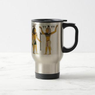 Earth and Air Geb and Shu Egyption Travel Mug