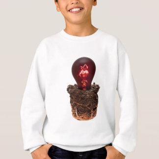 Earth and burning light bulb on your cool gift sweatshirt