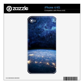 Earth and Galaxy iPhone 4S Decals
