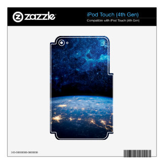 Earth and Galaxy iPod Touch 4G Skins