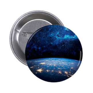 Earth and Galaxy Pinback Button