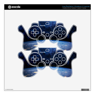 Earth and Galaxy Skins For PS3 Controllers