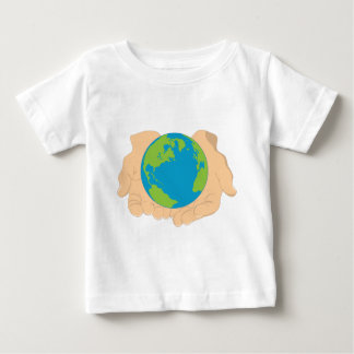 Earth and Hands Baby T-Shirt