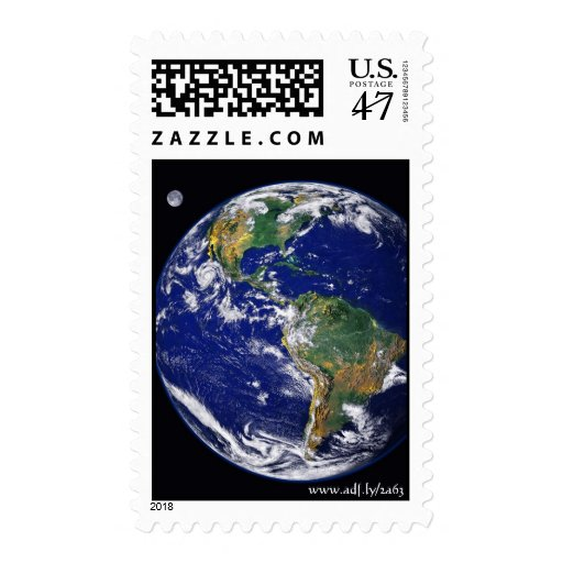 Earth and Her Moon, www.adf.ly/2a63 Postage Stamp