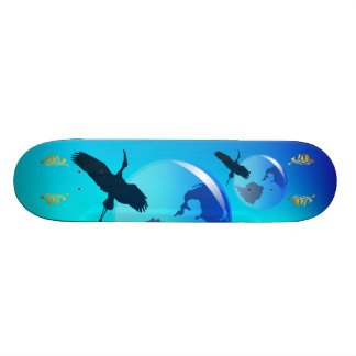 Earth and Heron Skateboard